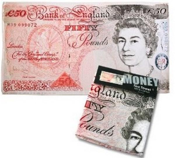Bank Note Money Tea Towel