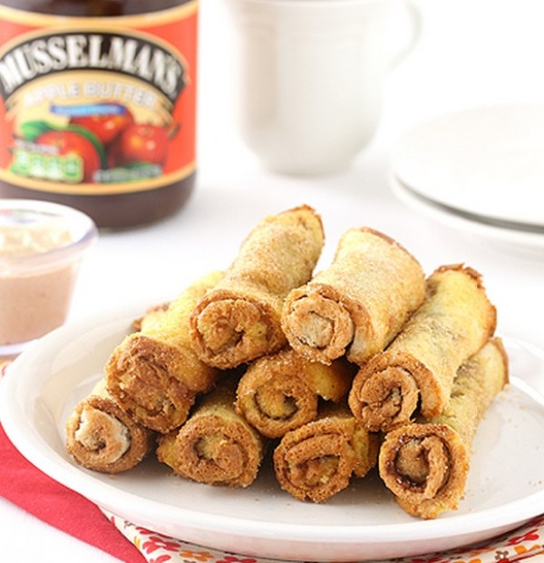 Apple Butter & Cream Cheese French Toast Roll-Ups