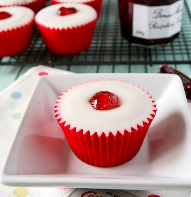 Homemade Cherry Bakewell Cupcakes