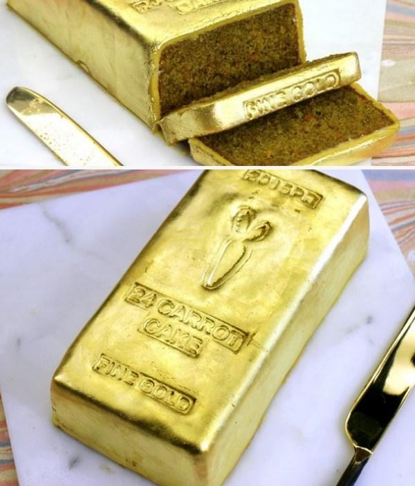 24 Carrot Gold Bar Cake