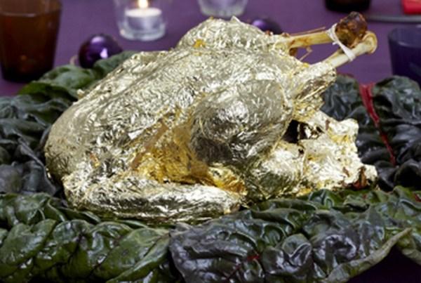Gold Leaf Wrapped Turkey