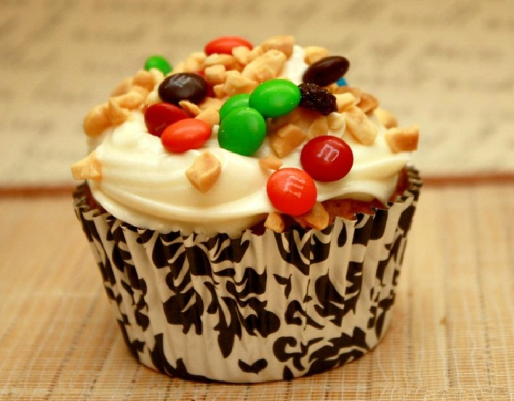 Trail Mix Cupcakes