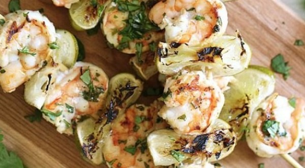 Grilled Cilantro Lime & Shrimp Kabobs