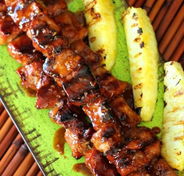 Asian Savory & Sweet Pork Kabobs