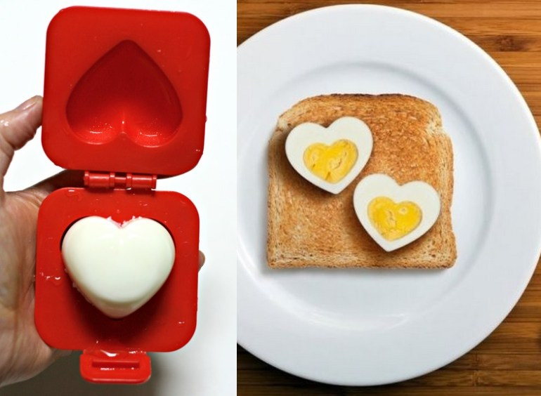 Heart Shaped Hard-Boiled Egg Mould
