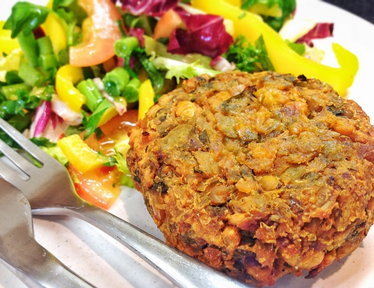 Baked Bean Vegetable Burger