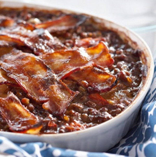Ground Beef and Baked Bean Casserole