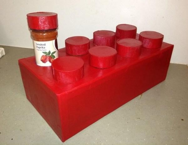 LEGO Brick Spice Rack