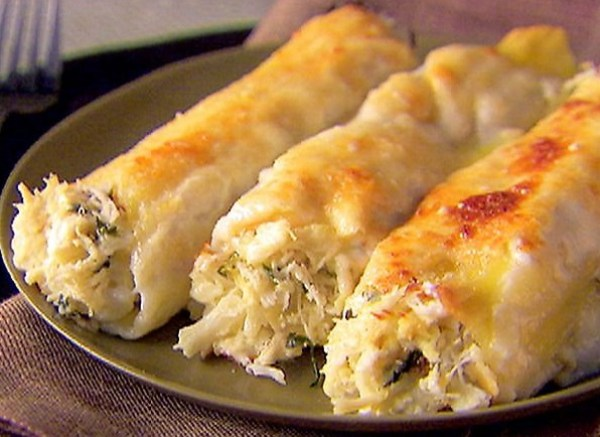 Crab and Ricotta Cannelloni