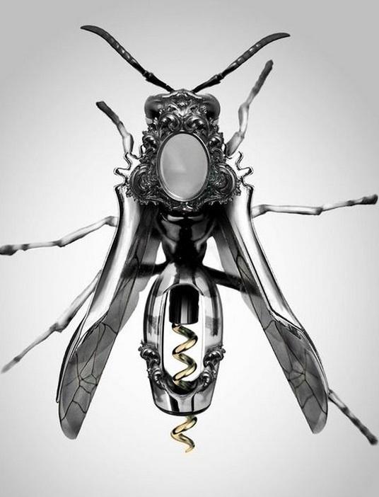 Steampunk Bug Corkscrew