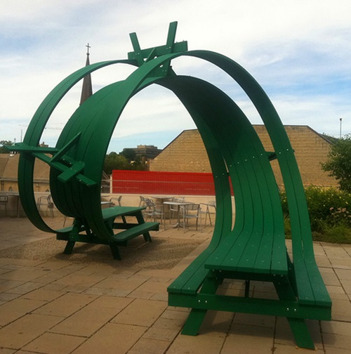 Roller Coaster Loop Picnic Table