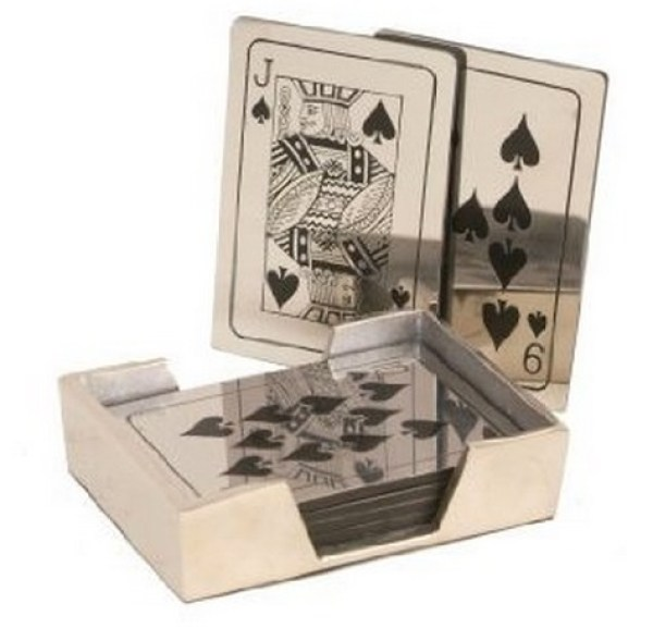 Metal Playing Card Coasters