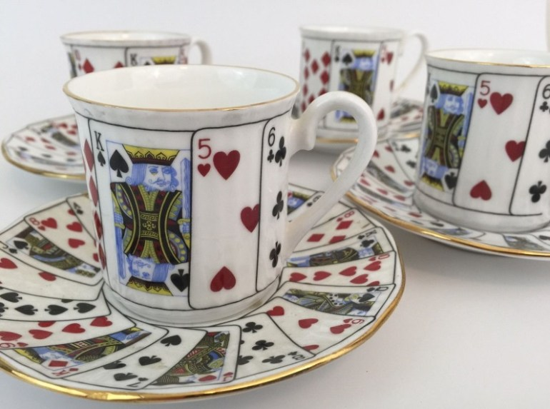 Playing Card Mug & Saucer Set