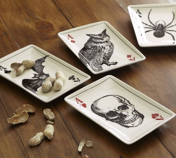 Ace of Skulls Appetizer Plates