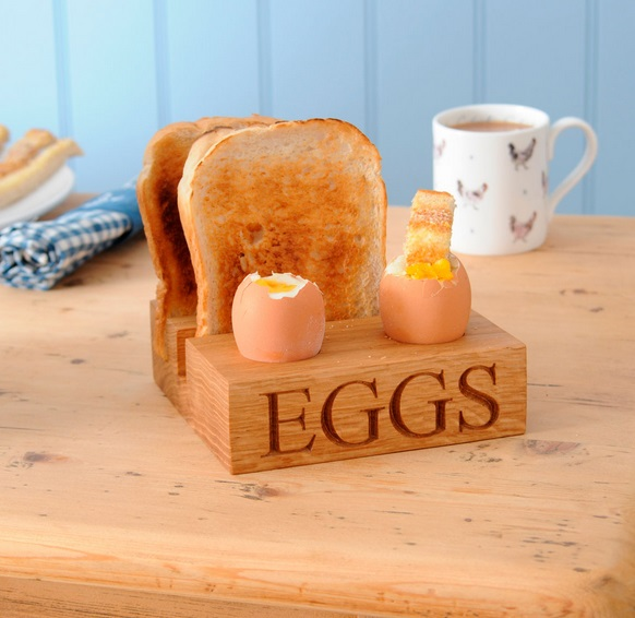 Wooden Block Egg & Toast Rack