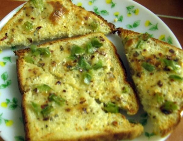 Garlic Chilli Cheese on Toast