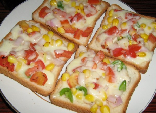 Cheese Veggie On Toast