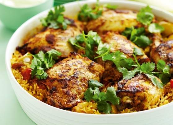 Indian Curried Chicken & Rice