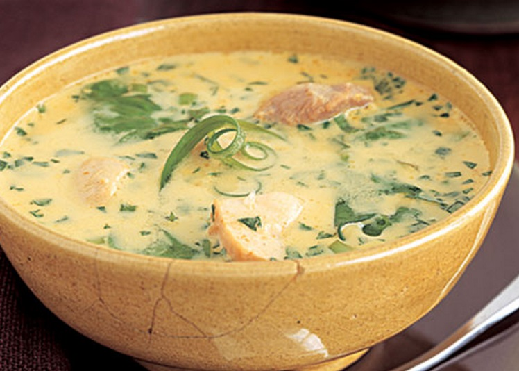 Curried Chicken & Coconut Soup