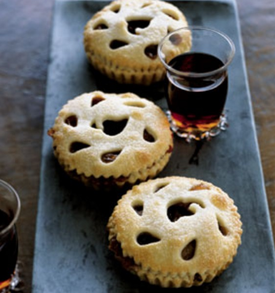 Brandied Sour Cherry and Pear Tartlets