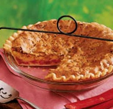 Orange & Rhubarb Pie