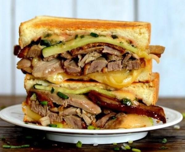 Peking Duck & Grilled Cheese Sandwich