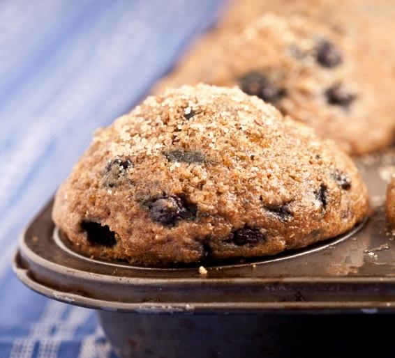 Steel Cut Oatmeal & Blueberry Muffins