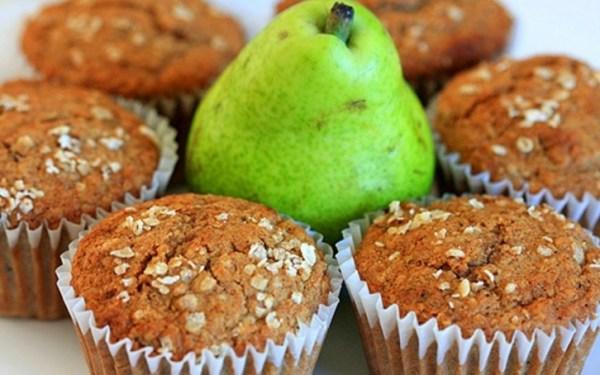 Pear & Oat Bran Muffins