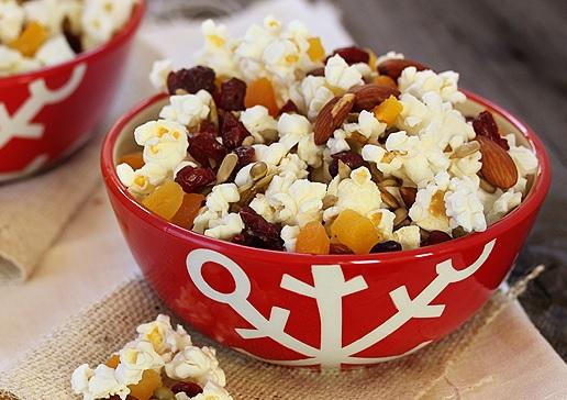Homemade Trail Mix Popcorn