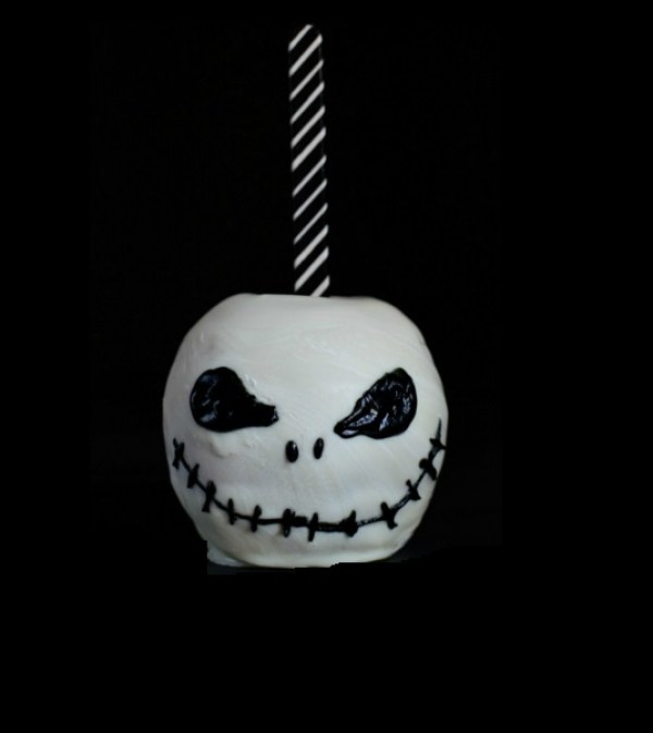 Jack Skellington Chocolate Covered Candy Apples