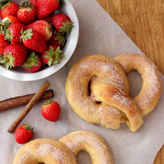 Strawberry Cream Filled Pretzels