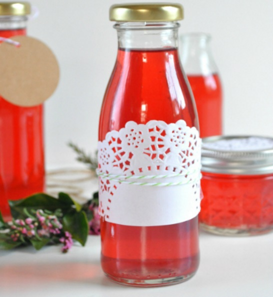 Homemade Rose Petal Vinegar