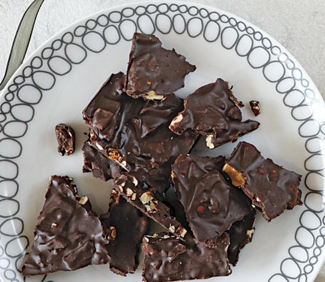 Bittersweet Chocolate Bark with Marcona Almonds