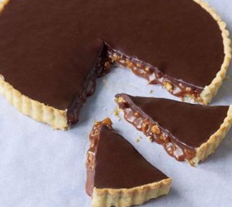 Chocolate Caramel & Almond Tart
