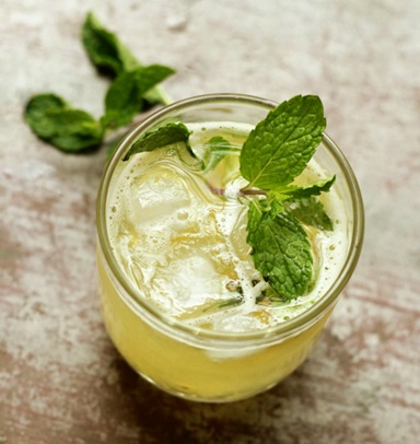 Homemade Pineapple & Mint Fizzy Drink