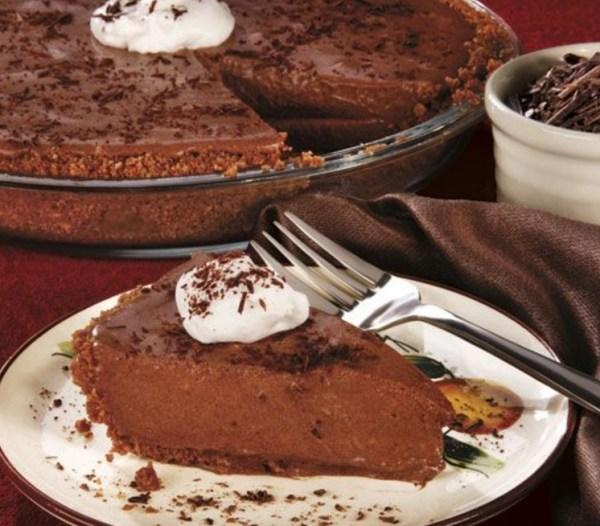 Chocolate Bavarian Cream Pie