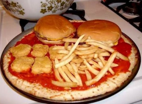 The McDonalds 99P Menu Pizza