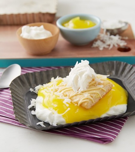 Upside Down Lemon Cream Pie