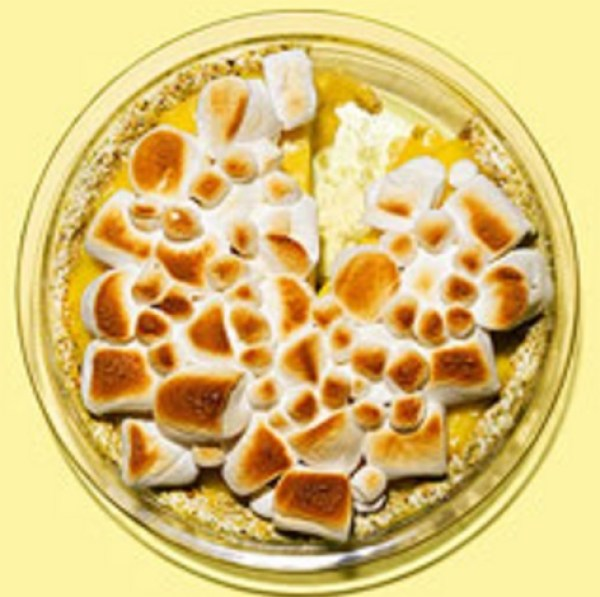 Lemon Cream Marshmallow & Pistachio Pie
