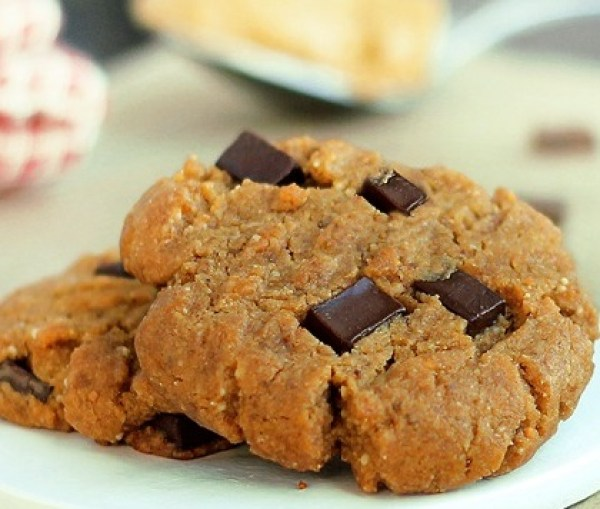Peanut Butter & Gingerbread Chocolate Chunk Cookies