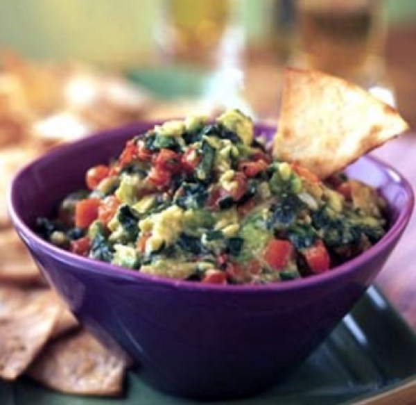 Roasted Garlic and Red Pepper Guacamole