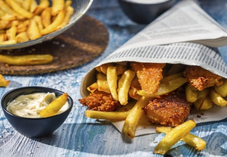 Lager Battered Fish and Chips