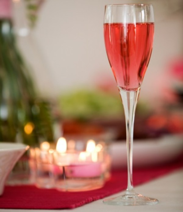 Homemade Pink Champagne