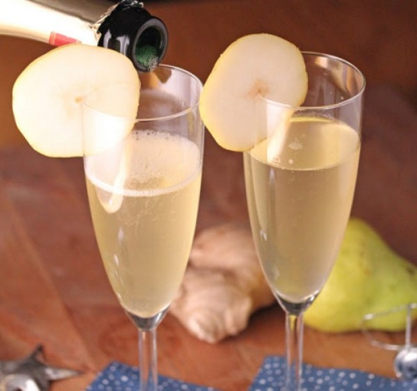 Homemade Ginger Champagne
