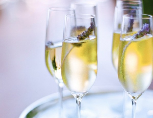 Homemade Lavender Champagne