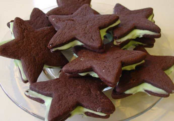 Christmas Mint Wafer Cookies