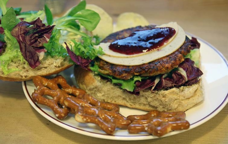 Vegetarian Christmas Burger