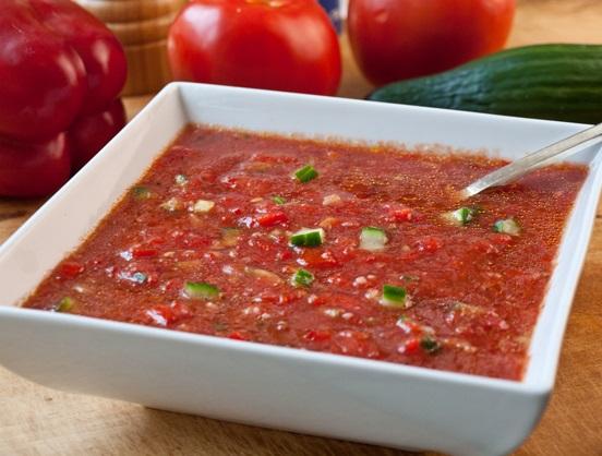 Roasted Garlic Gazpacho Soup