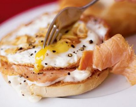 Bagel and Lox With Egg