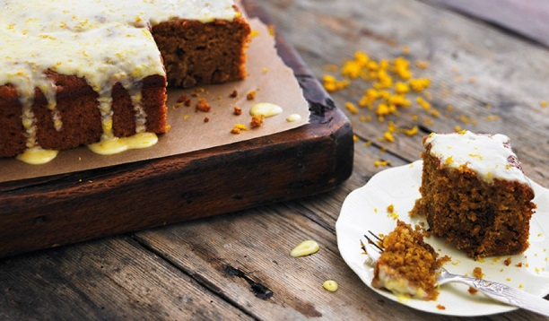 Carrot Cake With Yogurt Drizzle